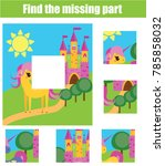 puzzle for toddlers. matching... | Shutterstock . vector #785858032