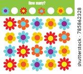 counting educational children...   Shutterstock . vector #785862328