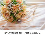 delicate women's jewelry and... | Shutterstock . vector #785863072