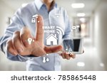 smart home automation concept... | Shutterstock . vector #785865448