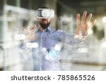 virtual screen industrial and... | Shutterstock . vector #785865526