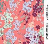 bright springtime blossom... | Shutterstock .eps vector #785866312