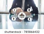 human resource management  hr ... | Shutterstock . vector #785866432