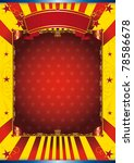 Happy poster circus Poster with a large copy space for your advertising - stock photo