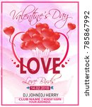 valentines day  background with ... | Shutterstock .eps vector #785867992