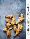 fresh jerusalem artichokes  | Shutterstock . vector #785869345