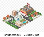set of isolated high quality... | Shutterstock .eps vector #785869405