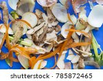Vegetable Peels Are Shown On A...
