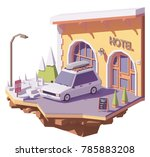 vector low poly station wagon...   Shutterstock .eps vector #785883208