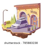 vector low poly station wagon... | Shutterstock .eps vector #785883238