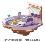 vector low poly station wagon... | Shutterstock .eps vector #785883358