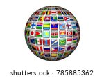 world community 3d rendering | Shutterstock . vector #785885362