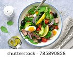 tuna salad with mix salad...   Shutterstock . vector #785890828