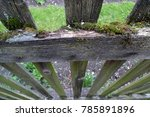 Old  Wooden Fence Covered With...