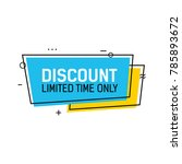 discount limited time lettering | Shutterstock .eps vector #785893672