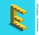 realistic  gold 3d isometric... | Shutterstock .eps vector #785895262
