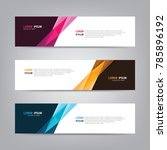 vector abstract web banner... | Shutterstock .eps vector #785896192