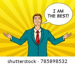 happy businessman with smile... | Shutterstock . vector #785898532