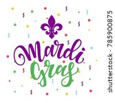 vector illustration  mardi gras ... | Shutterstock .eps vector #785900875