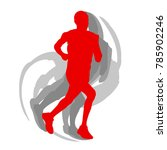 man runner motion isolated... | Shutterstock .eps vector #785902246