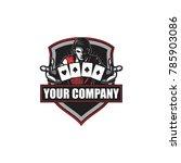 poker and casino logo template | Shutterstock .eps vector #785903086