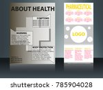 health care and medical poster... | Shutterstock .eps vector #785904028