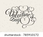 happy valentines day greeting... | Shutterstock .eps vector #785910172