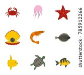 underwater animal stickers... | Shutterstock . vector #785912266