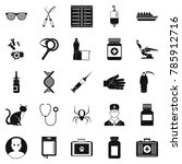 physician icons set. simple set ... | Shutterstock . vector #785912716