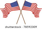 Illustration Of Two Flags Of...