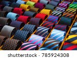 colorful tie collection in the...   Shutterstock . vector #785924308