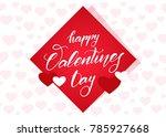 vector illustration  romantic... | Shutterstock .eps vector #785927668