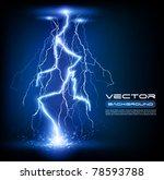 vector lightning flash strike... | Shutterstock .eps vector #78593788