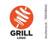 minimal modern cool grill doner ...   Shutterstock .eps vector #785938042