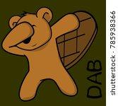 dab dabbing pose beaver kid