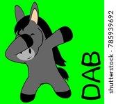 dab dabbing pose donkey kid