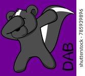 dab dabbing pose skunk kid