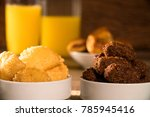mixed brazilian snack on the... | Shutterstock . vector #785945416