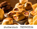 mixed brazilian snack on the... | Shutterstock . vector #785945536