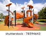 playgrounds and nice blue sky - stock photo