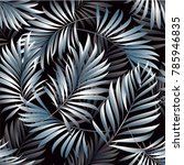 tropical palm leaves  jungle... | Shutterstock .eps vector #785946835