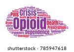 opioid crisis word cloud... | Shutterstock .eps vector #785947618