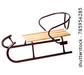 detskie sled for skating on... | Shutterstock . vector #785956285