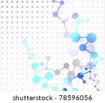 molecule background | Shutterstock .eps vector #78596056