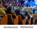 people attend business... | Shutterstock . vector #785964562