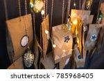 christmas advent calendar...   Shutterstock . vector #785968405