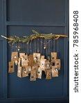christmas advent calendar...   Shutterstock . vector #785968408