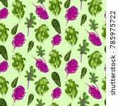 kale vegetable hand drawn... | Shutterstock . vector #785975722