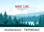 abstract background. forest... | Shutterstock .eps vector #785980462