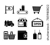 set of icons. contains icons... | Shutterstock .eps vector #785980822